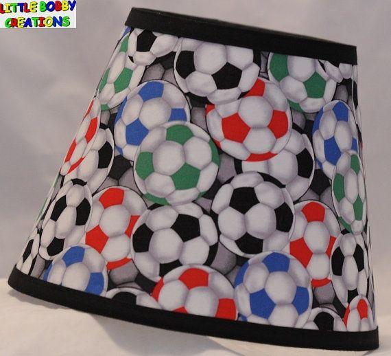 Soccer Soccerballs Socer Balls Fabric Lamp Shade 10 Sizes