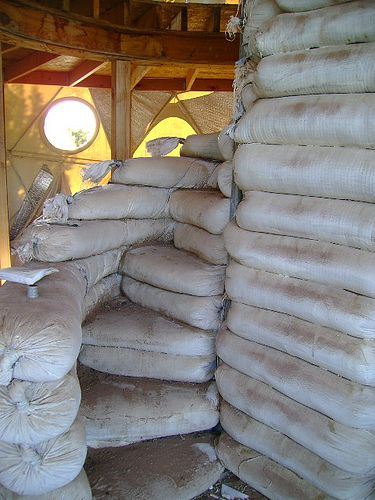 WOOT! Earthbags have proven to be incredibly versatile. Check out these stairs - cement over them for a lovely effect.