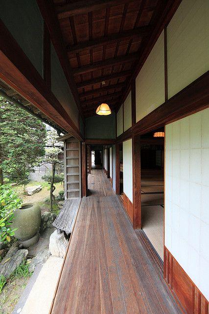 Japanese traditional style SAMURAI house / 稲葉家下屋敷(いなばけ しもやしき) by TANAKA Juuyoh (田中十洋), via Flickr