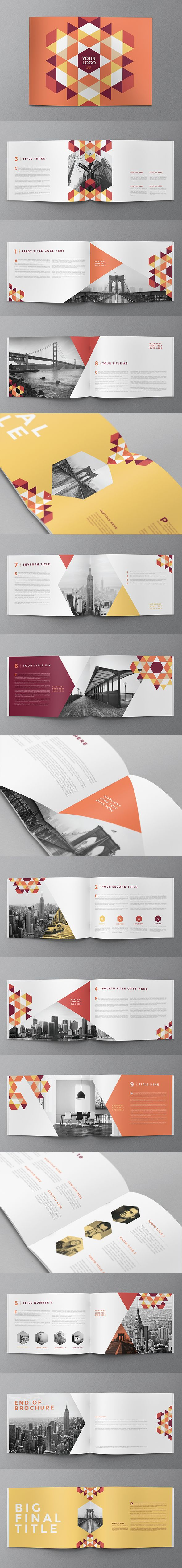 Modern Red Pattern Brochure