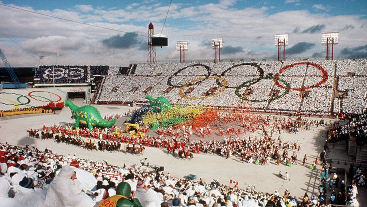 The 1988 Winter Olympics, officially known as the XV Olympic Winter Games (French: Les XVes Jeux olympiques d'hiver), was a Winter Olympics multi-sport event celebrated in and around Calgary, Alberta, Canada between February 13 and 28, 1988. The host city was selected in 1981, defeating Falun, Sweden and Cortina d'Ampezzo, Italy. Most events took place in Calgary while several skiing events were held in the mountain resorts of Nakiska and Canmore, west of the city.