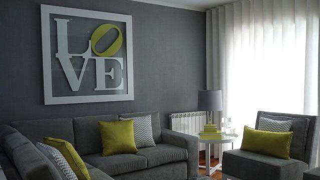 Salon Vert Et Gris. Excellent Deco Salon Vert On Decoration D ...