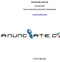 Anunciate.com.do Anunciate Gratis  Vende, Compra, Busca y Encuentra. Publicidad Gratis  www.anunciate.com.do