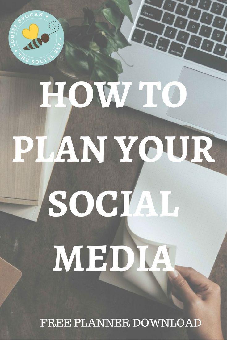 Free printable planner,  social media ideas planner, social media marketing, social media planning