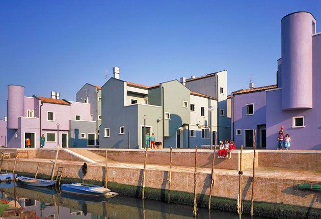 Giancarlo De Carlo, rsidenze del nuovo quartiere popolare sull´isola di Mazzorbo, Venezia (1979-1997)