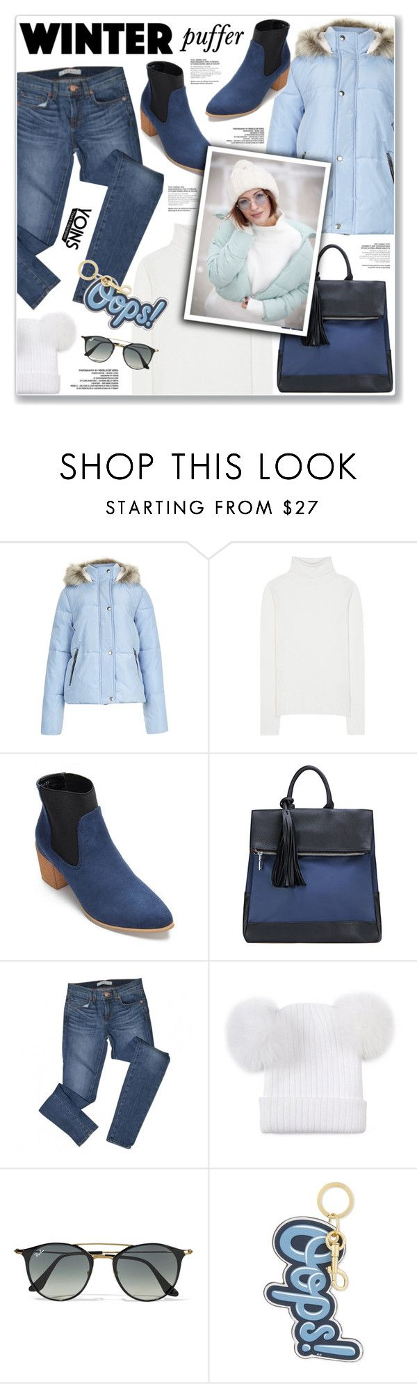 """LOVE YOINS"" by nanawidia ❤ liked on Polyvore featuring New Look, Chloé, J Brand, Ray-Ban and Anya Hindmarch"