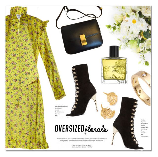 Oversized Florals: Vetements by stellaasteria on Polyvore featuring polyvore, fashion, style, Vetements, Balmain, Cartier, Alex Monroe, Miller Harris, MacKenzie-Childs and clothing