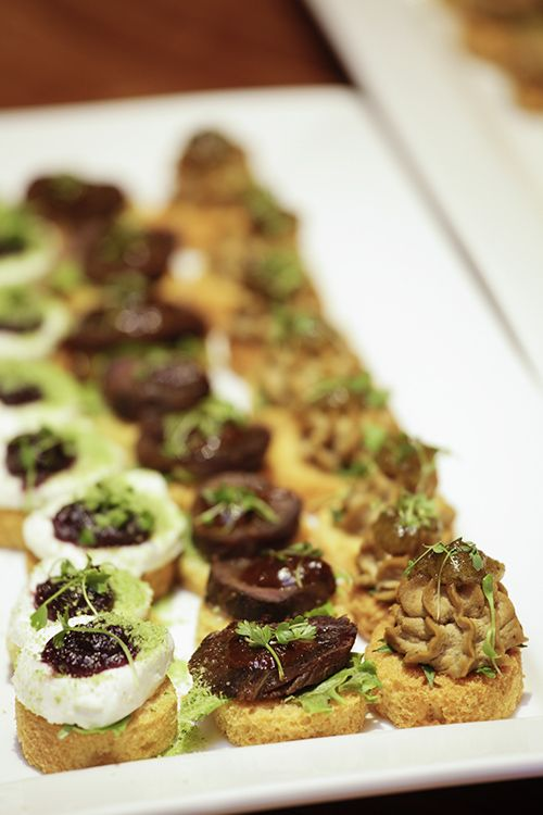 Cold canapes for starter #StyleNight