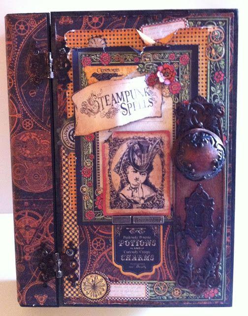 Steampunk spells altered book box