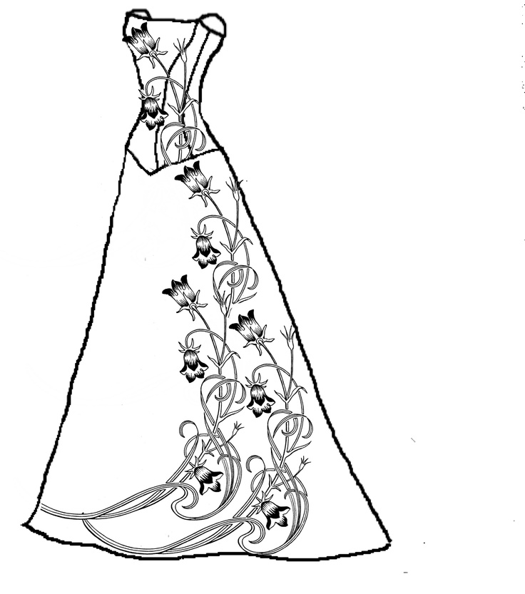 free dresses coloring pages - photo#10