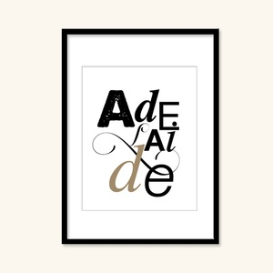 NEED ANOTHER CITY? Click to see more!    ADELAIDE Art Print, $22, typography, digital, cities, Australia