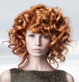 Curly Hair Orange Middle Long She Hair Pinterest
