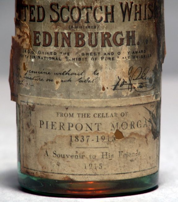 From the cellar of Pierpont Morgan 1837 - 1913, just before WWI...