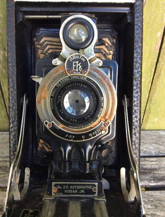 Fancy Vintage s Model C Autographic Kodak JR Folding Camera This is a beautiful vintage