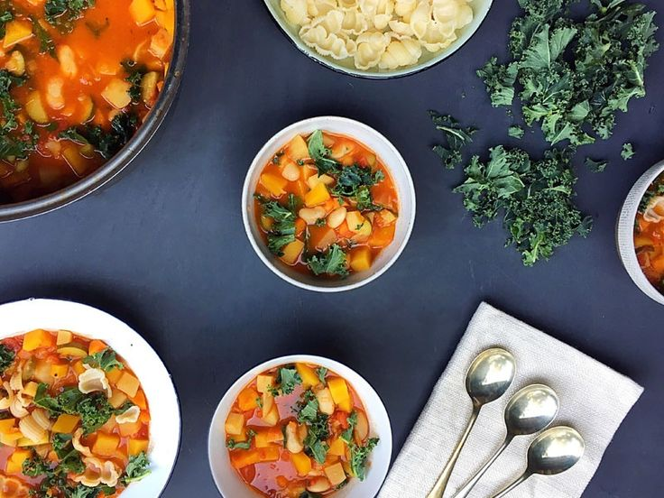 How to make a basic Minestrone soup #healthyrecipe