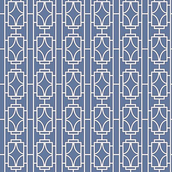 2669-21743 Sapphire Lattice - Empire - Empress Wallpaper by Beacon House