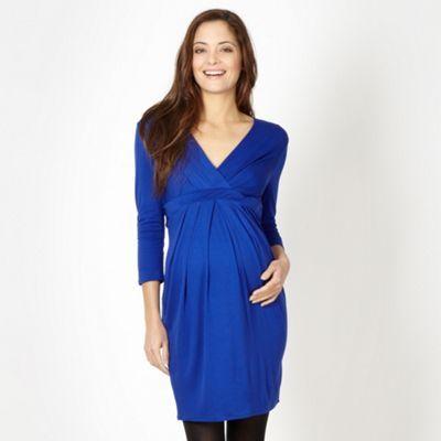 Red Herring Maternity Royal blue tie back jersey maternity dress- at Debenhams.com
