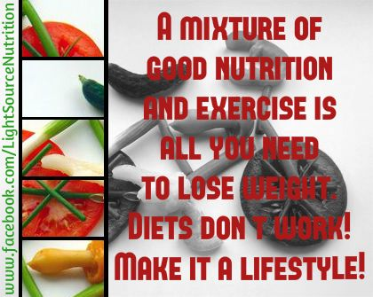 """Diets DON""""T WORK! Make healthy choices day in, day out and watch your weight drop permanently!"""