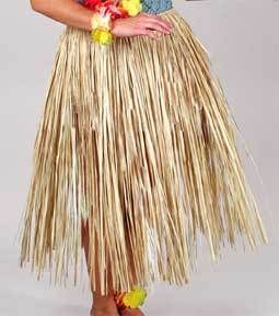 Luau Party Raffia Hula Skirt -Adult 31 In. X 42 In. - Dress up in this modern day real raffia hula skirt. Great addition to your luau attire. Natural color. This is our most popular, and most requested party theme. With a wide selection of tropical themed party favor and costume accessories you can make your Hawaiian beach party a night or day to remember. Product Highlights: 42 in. Waist, 32 in. Length, Adult XL size, Made of natural fiber, Tie waist.