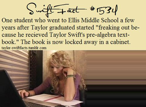 im green with envy.....i hate maths but SERIOUSLY TAYLOR SWIFTS!?!?!?!?!?