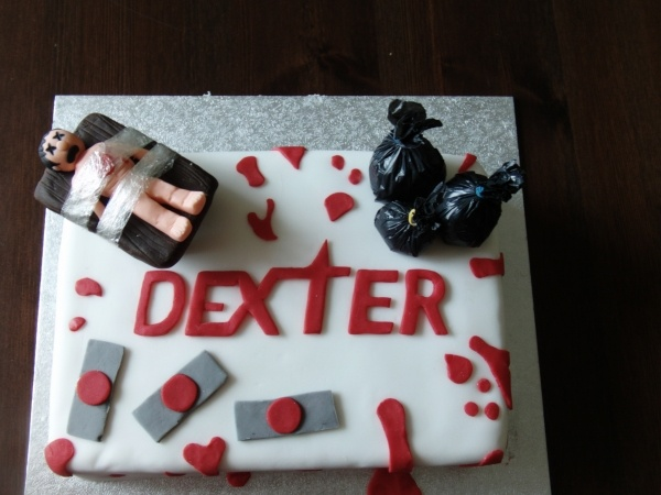 Dexter Cake omg I want this more then anything in the world now!!!!! Omg I'm dying for this cake!!!!