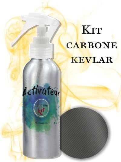 Kit d'impression hydrographique Carbone Kevlar Tsunami Kit