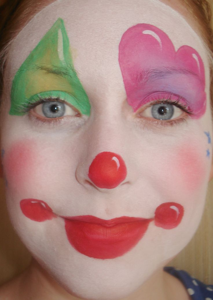 Clown face painting for miah 39 s 1st bday face painting for Face painting clowns for birthday parties