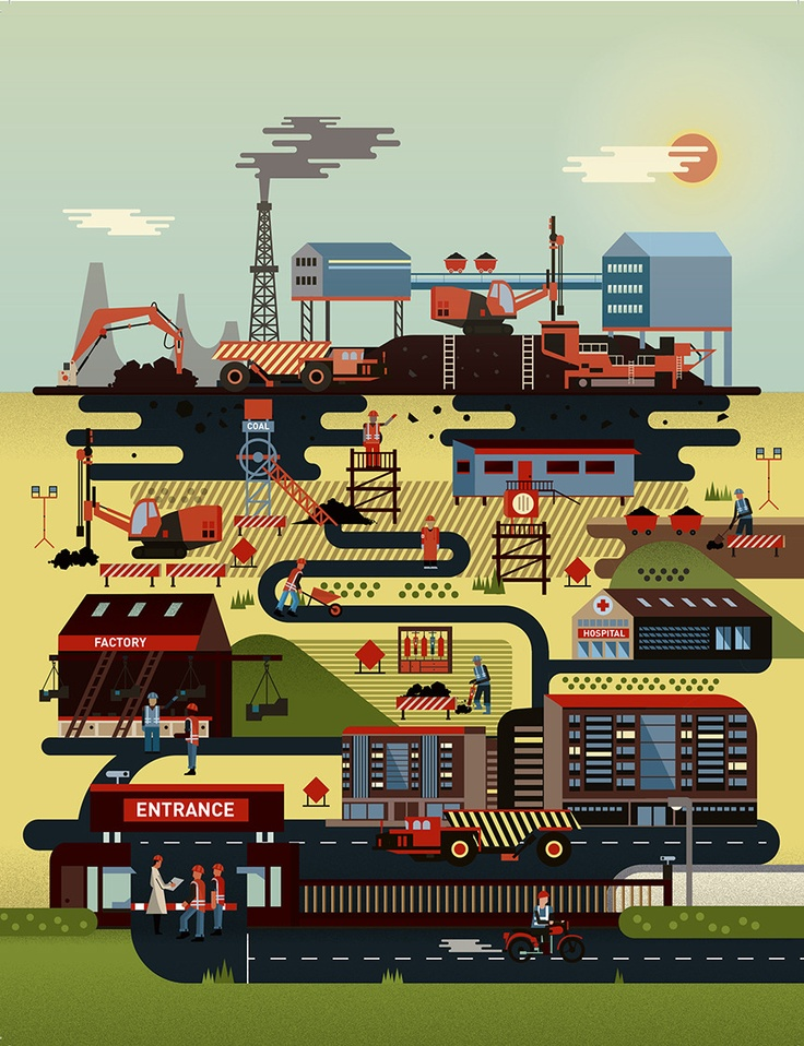 Sandvik Factory Illustrations - Yellowcardas