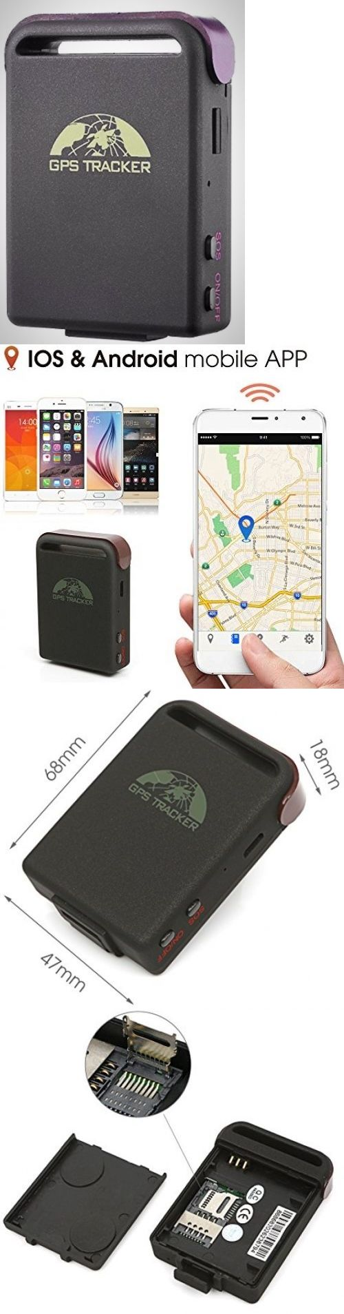 Tracking Devices: Mini Gps Tracker Quad Band Realtime Smallest Spy Car Mini Waterproof Tech New -> BUY IT NOW ONLY: $36.44 on eBay!