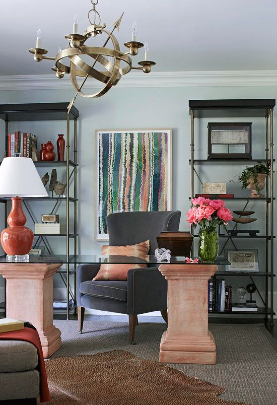 142 best Design: Stylish Home Offices images on Pinterest | Live,  Workspaces and Basement