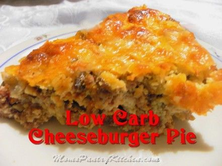 Low Carb Cheeseburger Pie - almond flour gives this a yummy texture almost like the bisquick pie we love :)