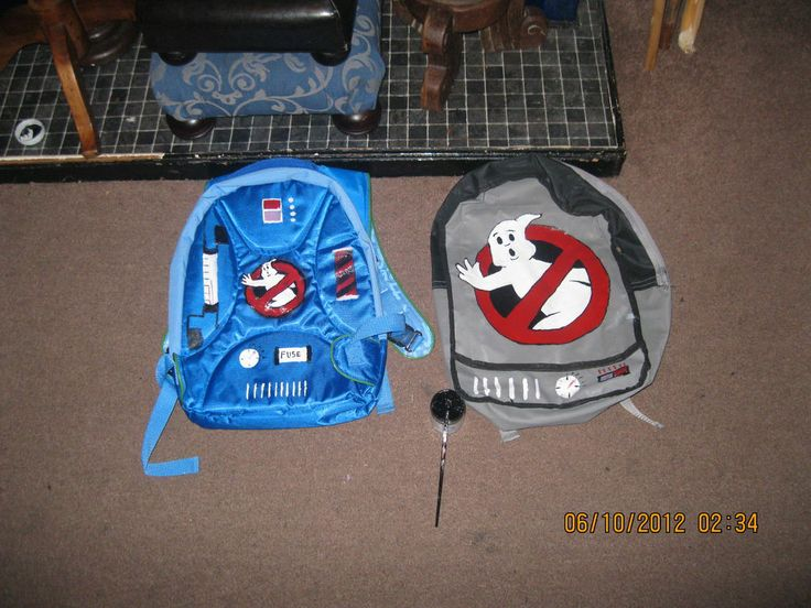 Picture of custom made ghostbusters backpacks