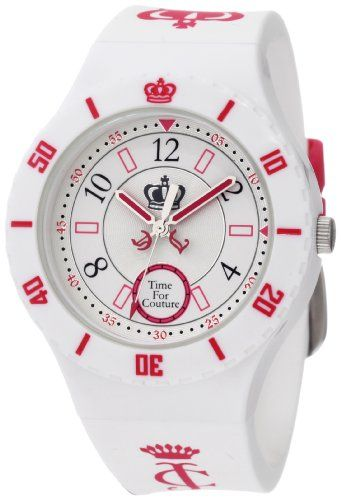 Juicy Couture Women's 1900822 TAYLOR White Jelly Strap Watch