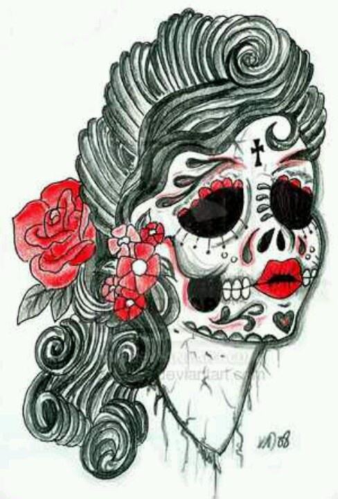 #sugarskull #flowers #dayofthedead