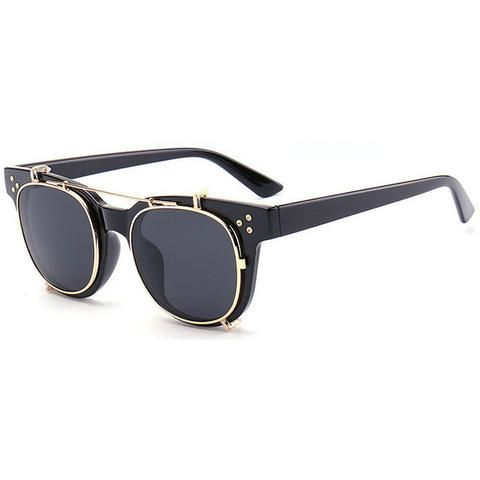 Eyewear Square Sunglasses for men or women. Trendy flip up glasses - free shipping on orders over 49.99$