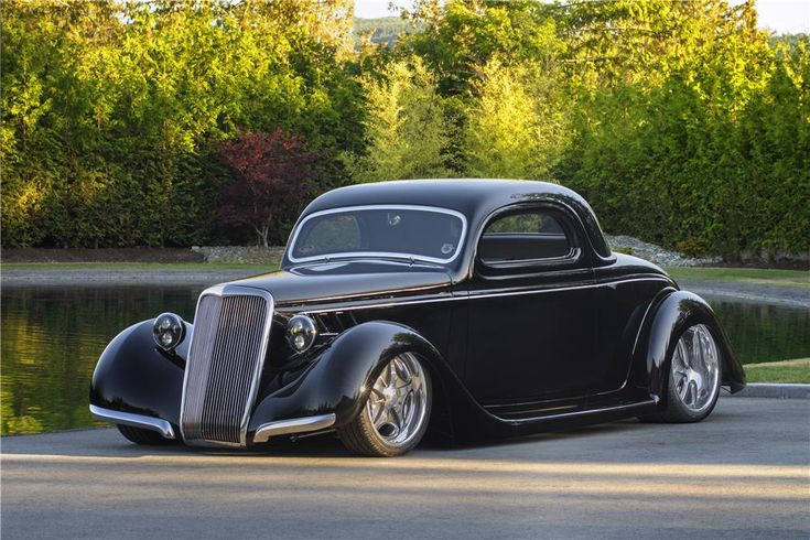 1935 ford 3 window coupe barrett jackson auction company for 1935 ford three window coupe