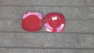 Selatan Jaya distributor barang plastik furnitur Surabaya Indonesia: Piring Segi Melamin 6 inch hawai merk vanda kode P...