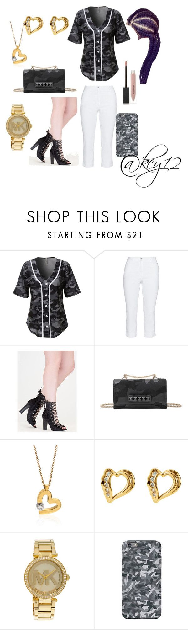 """When you sexy with Camo"" by key12 ❤ liked on Polyvore featuring LE3NO, KJ Brand, Valentino, Roberto Coin, Michael Kors, Burberry and Ultimate"