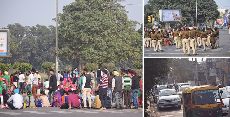 #Teachers strike against #Punjab #Government in #Mohali