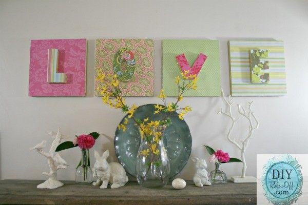 Foam Letters Wall Decor : Best ideas about styrofoam wall art on