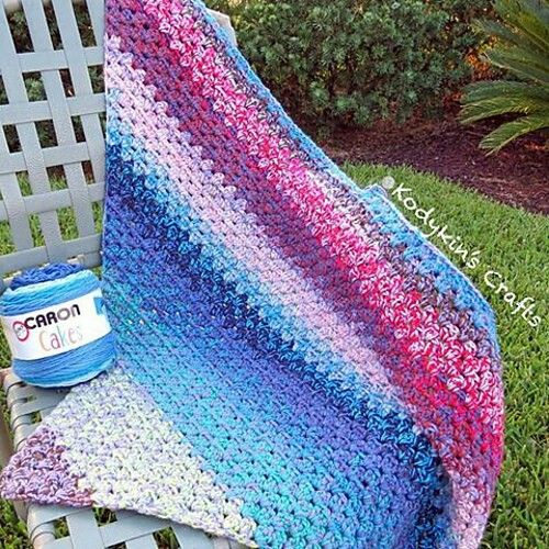 21 best caron for crochet and knit images on pinterest caron pattern and tutorial for kodykins crafts layer cake diagonal granny stripe blanket fandeluxe Images