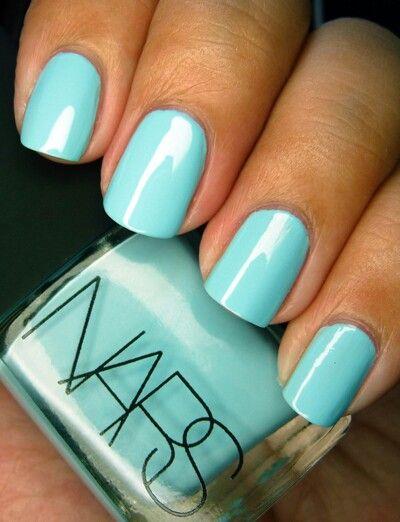 nars nail vanish, light blue turquoise