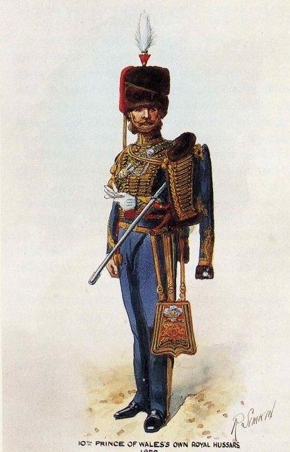 "BRITISH ARMY - ""10th Prince of Wales's Own Royal Hussars, Officer, 1852"" Richard Simkin"