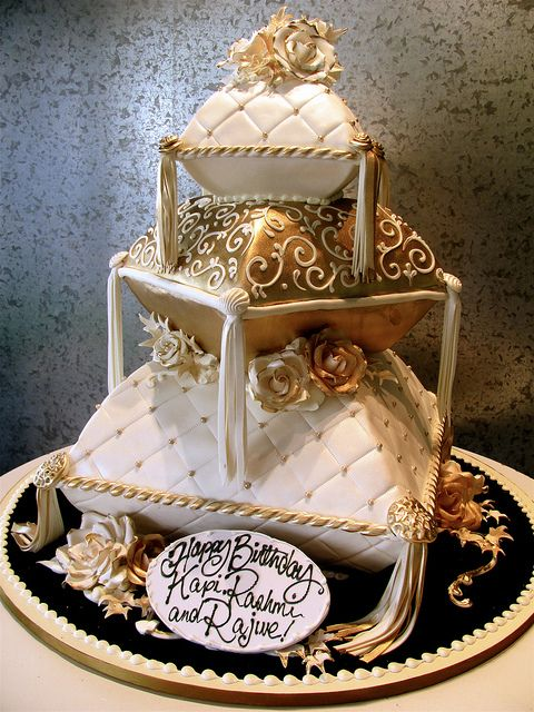 Stacked Pillows by Rosebud Cakes - 25 Year Anniversary, via Flickr