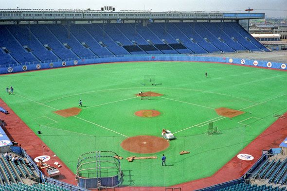 What Exhibition Stadium used to look like in Toronto