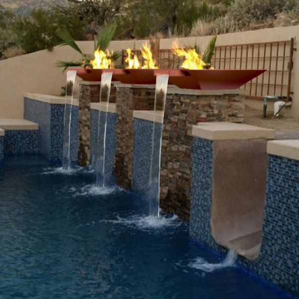 12 best fire on water images on pinterest outdoor life for Pool fire bowls