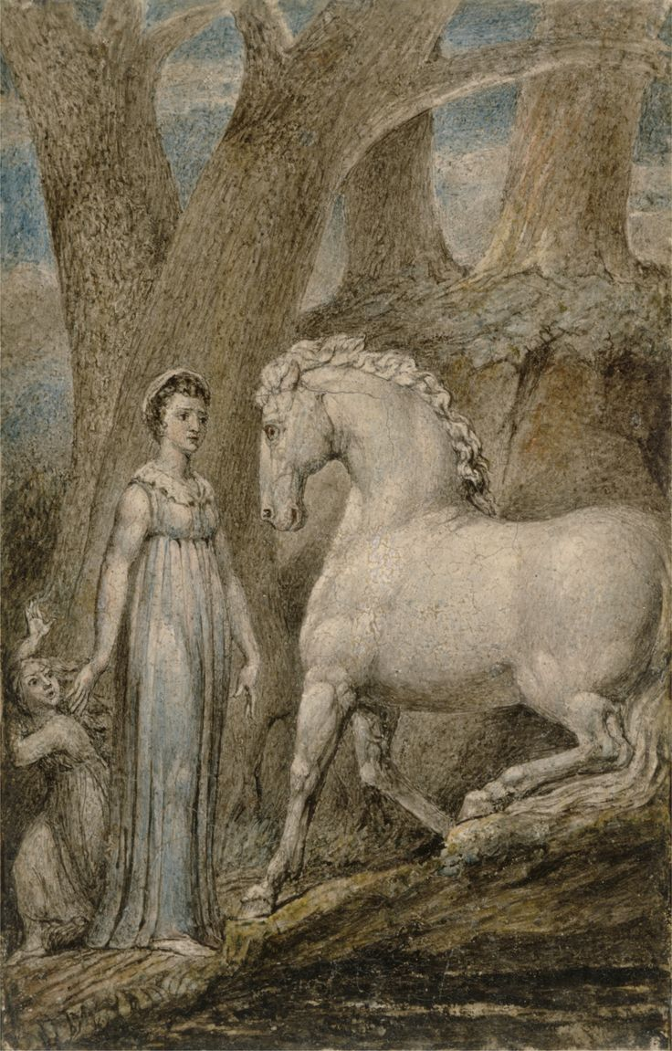 William Blake: The Horse, c.1805.