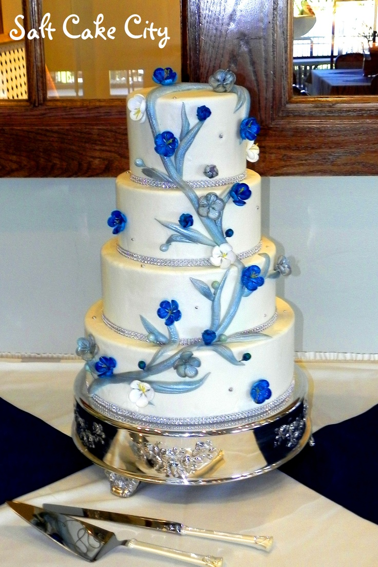 wedding cake silver and blue blue and silver wedding cakes www imgkid the image 24547