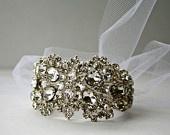 Dolores Petunia: Bride Cuffs, The Knot, Cuffs Silver, Sailors Ropes, Bridal Cuffs, White Tulle, Spiderweb Bridal, Ropes Cuffs, Crystals Sailors