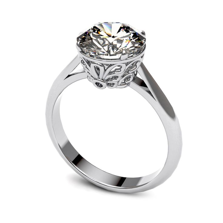 Diamond solitaire ring.    www.uwekoetter.com